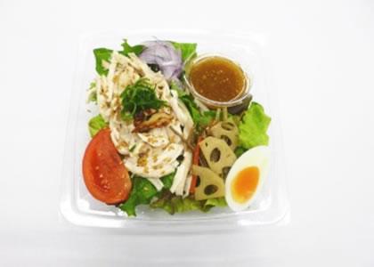 蒸し鶏と彩り野菜のサラダ